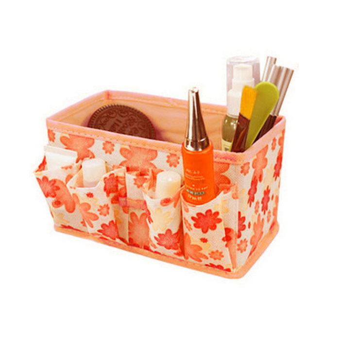 Newly Fashion Selljimshop Makeup Cosmetic Storage Box Bag Bright Organiser Foldable Stationary Container jimshopping(China (Mainland))