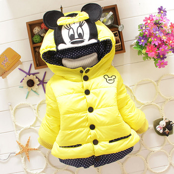 Autumn Winter Baby Girls Sweet Long Sleeve Hooded Thick Warm Jackets Kids Infant Princess Outerwear Coats ropa de ninas