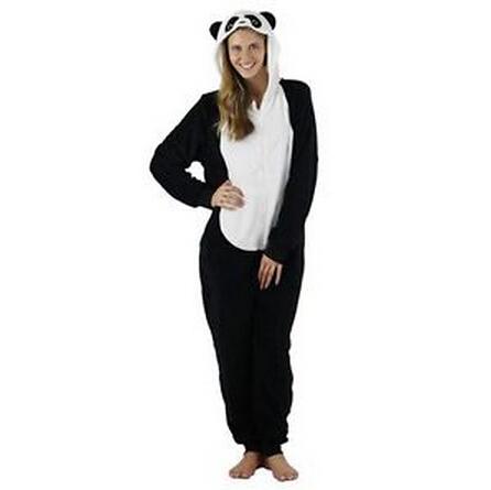 Panda Animal Onesie Pyjamas Playsuit Jumpsuit Pjs Sleepwear Costume Adult Kid(China (Mainland))