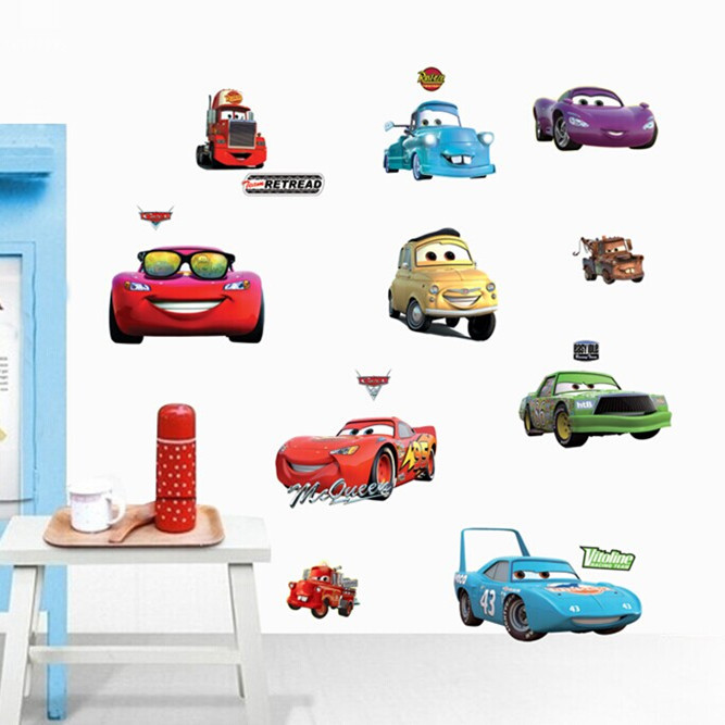 The new children's cartoon wall stickers manufacturers bedroom one.why cars DM57-0165(China (Mainland))
