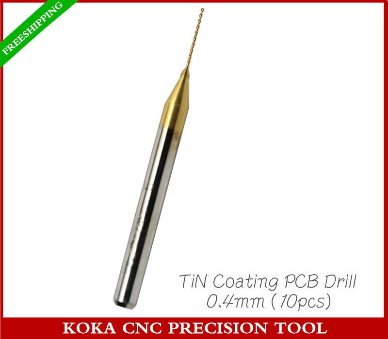 3.175mm(1/8'')*0.4mm,Freeshipping CNC Drill Bit,Micro PCB Board drill,Nanotechnology Tungsten steel cnc tool,Smooth chip removal(China (Mainland))