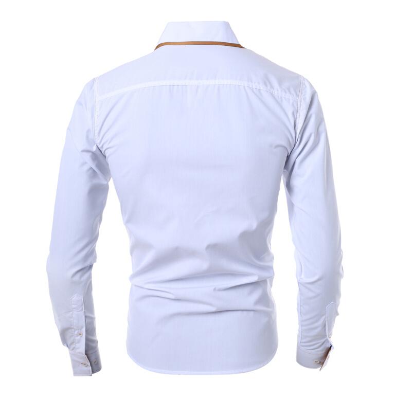 Men Shirt 2015 Fashion Brand Men S Double Button Male Long Sleeved Shirt Camisa Masculina Casual
