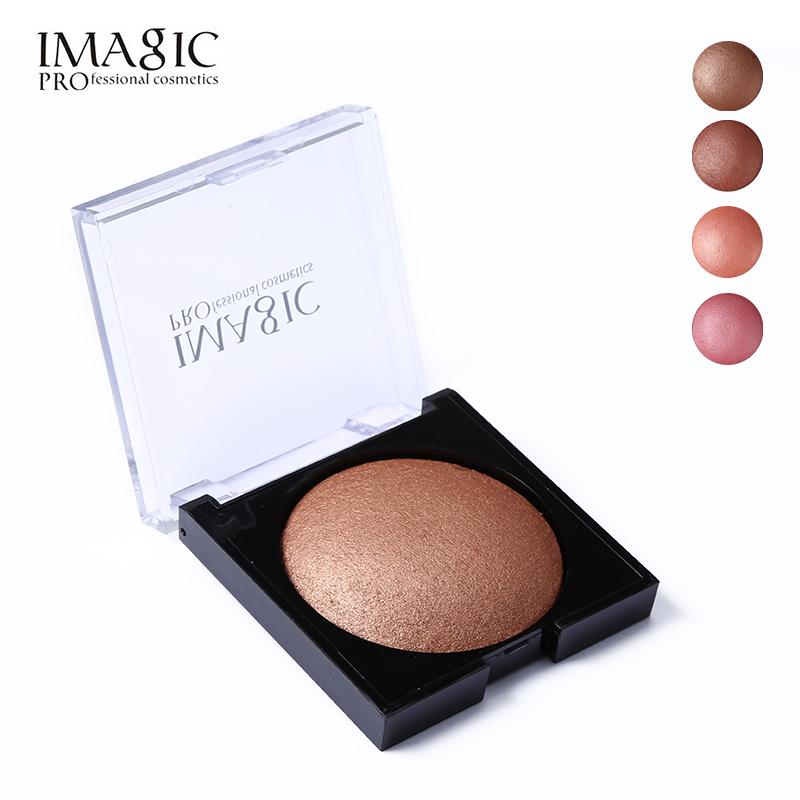 Matte Shimmer Blush Palette Face Makeup Contouring Baked Cheek Powder Color Blusher PRO Paleta De IMAGIC Women Bronzer Cosmetics(China (Mainland))