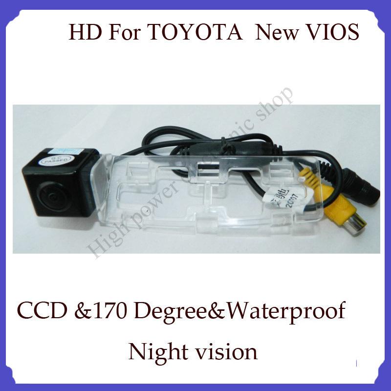 Waterproof night view car backup camera For TOYOTA New VIOS 1090K CCD parking camera.(China (Mainland))