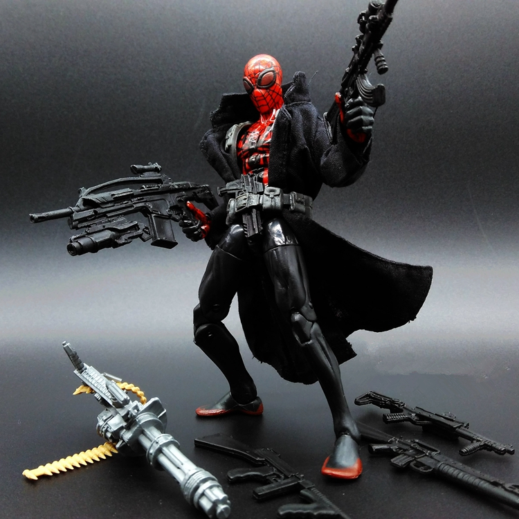 1pcs The Amazing Spider-Man Captain America3 Deadpool Machine Gun Marvel Avengers PVC 15cm Collectible Action Figure DIY(China (Mainland))