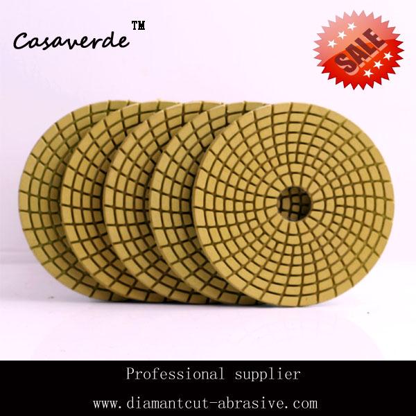 "Free shipping 4""(100mm) flexible wet diamond polishing pads for Granite and Marble granite polishing pads(China (Mainland))"