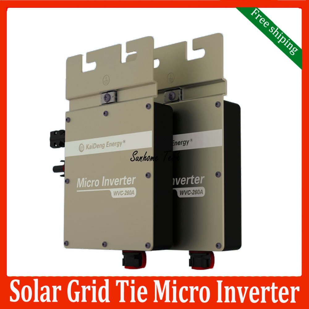 260W solar grid tie micro inverter IP67 DC22V~50V MPPT Solar Inverter with Power Line Carrier-current Communication(China (Mainland))