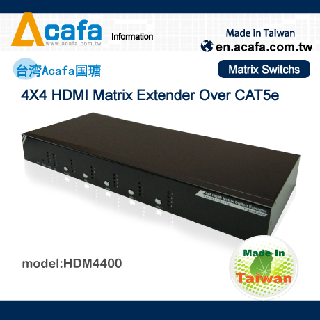 HDMI/RS232/IR 4X4 Matrix Switch Multiple Mixing signals Extender_ACAFA HDM4400-Made in Taiwan(China (Mainland))