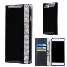 Buy Luxury Leather Case iPhone 6 Fundas 6S Bling Bling Diamond Wallet Card Holder Flip Stand Cover Bag iPhone 7 Plus Carcasa for $7.98 in AliExpress store