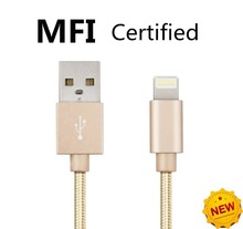 (SHELI)2.4A MFi Certified 8pin Braided USB Data Sync Charging Charger Cable for iPhone 6 6S Plus 5 5S iPad Mobile phone Cables(China (Mainland))