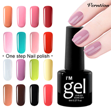 Buy Verntion 3in1 Nail Art Manicure Gel Polish Bling Soak-off One Step Varnish need UV LED Lamp Long-Lasting Gel Nail Polish for $1.39 in AliExpress store