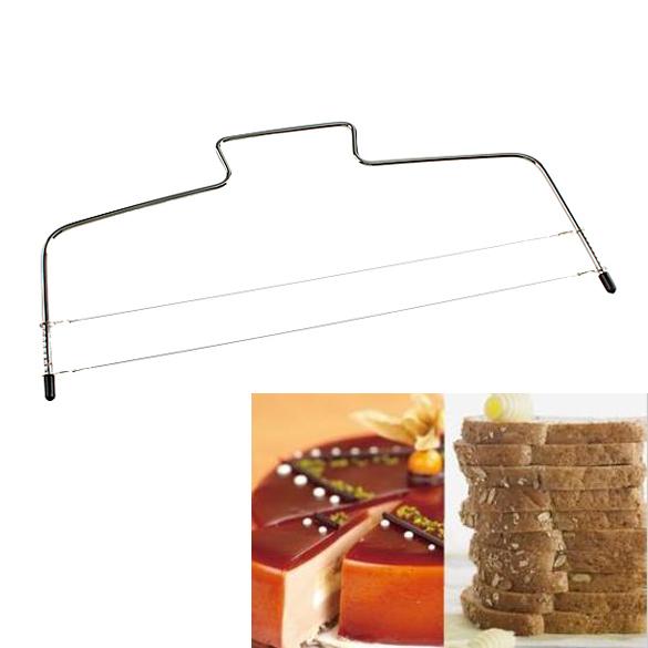 Cu3 Adjustable Wire Cake Slicer Leveler Stainless Steel Slices