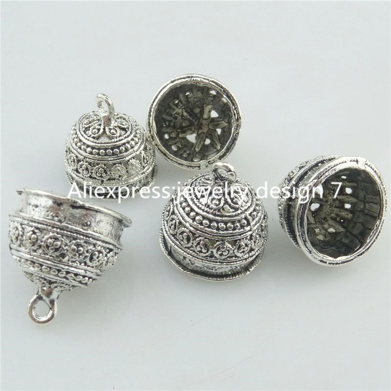 Free Shipping 18223 10PCS Alloy Tibetan Silver 18mm Flower Beads Cap End For Tassels Charms