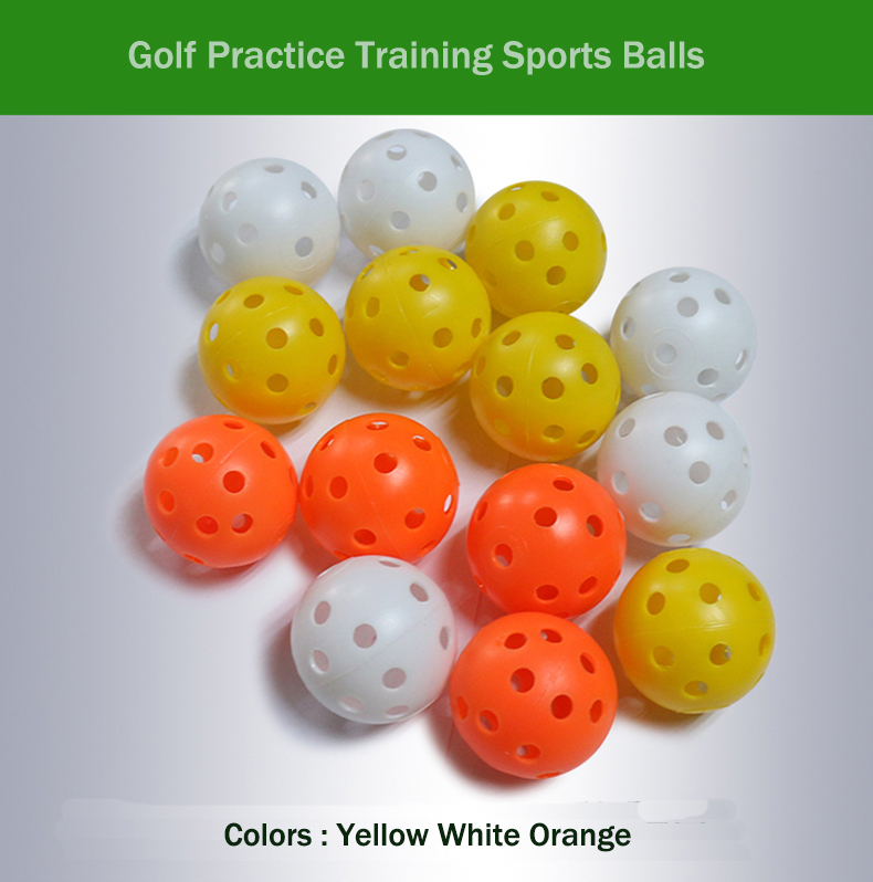 100pcs Plastic Whiffle Airflow Hollow Golf Practice Training Sports Balls Golf Accessories Hollow golf ball(China (Mainland))