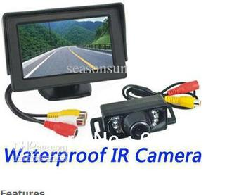 Wholesale - 4.3 inch TFT LCD Car Rear View Monitor IR Night Waterproof Parking Backup Camera System