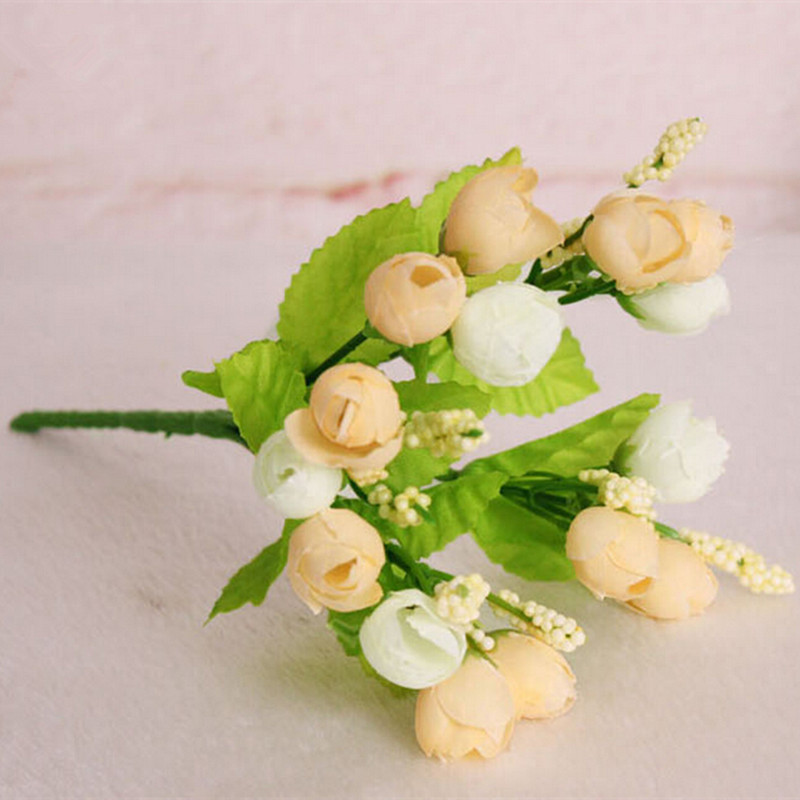 Rustic high artificial flower artificial flower coffee table decoration flower silk flower qq small tea rose