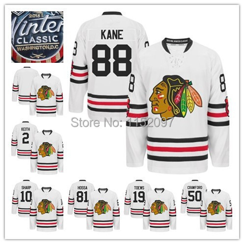 2015 Winter Classic Jersey Chicago Blackhawks Ice Hockey 88 Patrick Kane Jersey 2 Duncan Keith 19 Jonathan Toews 81 Marian Hossa(China (Mainland))