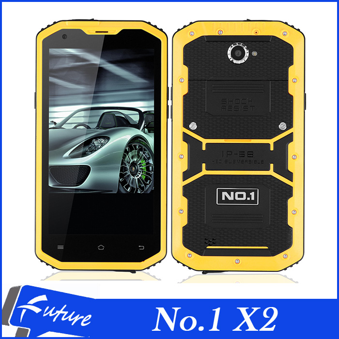 Original No.1 X2 X-Men IP68 Quad core 5.5 IPS 4G FDD LTE Android Mobile Phones 1GB RAM 8GB ROM 13.0MP Camera Waterproof Phone(China (Mainland))