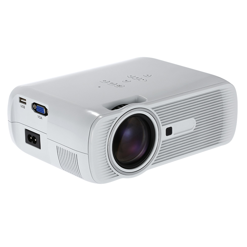 Best Selling BL-80 Mini LED Projector 1000 Lumens 1080P Full HD Contrast Ratio 1000:1 with HDMI AV TV Port Remote Controller(China (Mainland))