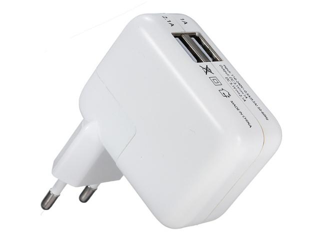 Universal 2 USB Ports EU Euro Plug Home Travel Wall AC Power Charger Adapter For Samsung Galaxy S4 S3(China (Mainland))