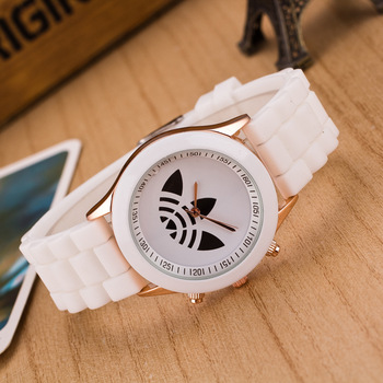13 Color Fashion Leaf Grass Quartz Watch Stainless Steel For Women Men Unisex Silicone Sports Casual Wristwatches SHIRLEY Brand