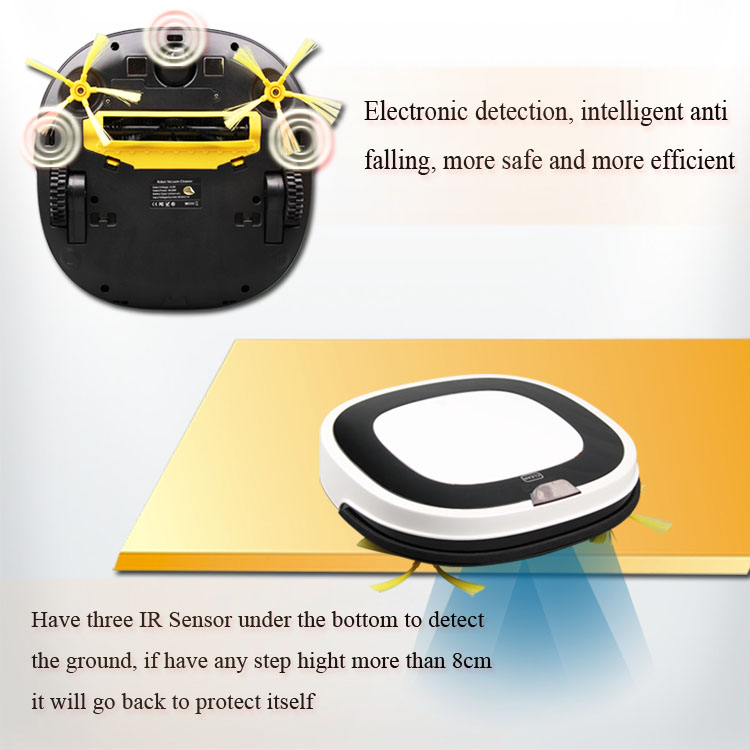 D5501 Multifunction Intelligent Vacuum Cleaner Self-Charge Home Appliances Remote Control Robot vacuum cleaner wet and dry mop(China (Mainland))