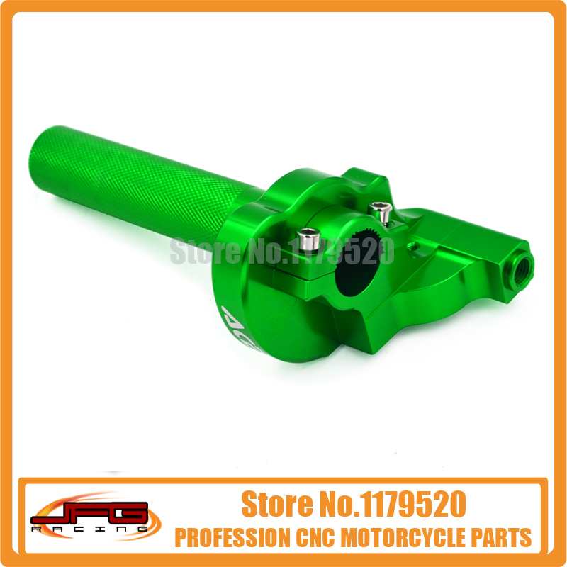 Billet CNC Twister Throttle Clamp Assy Green for Bosuer Kayo 50 70 90 100 110 XR50 CRF50 Pit Dirt Bike ATV Offroad Motorcycle(China (Mainland))