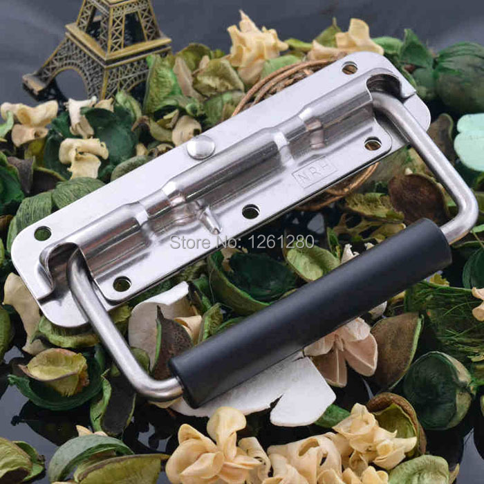 free shipping metal handle Air box spring stainless steel handle aluminum Instrument case bag hardware toolbox handle fitting(China (Mainland))