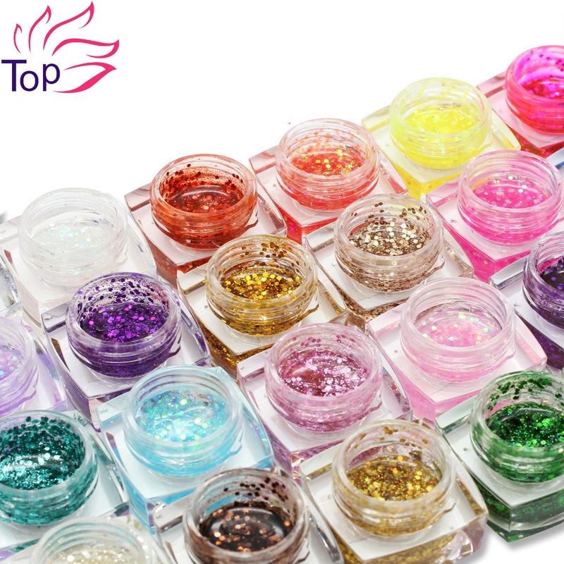 8ml 24 Colors Long Lasting UV Gel Sequins Glitter Shiny Gel Nail Polish Charming Resin Nail Gel Polish JH340<br><br>Aliexpress