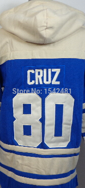 Victor Cruz hoodie cheap Authentic winter sport suit mens New York American Football hoodies sweatshirt 100% Stitched logos(China (Mainland))