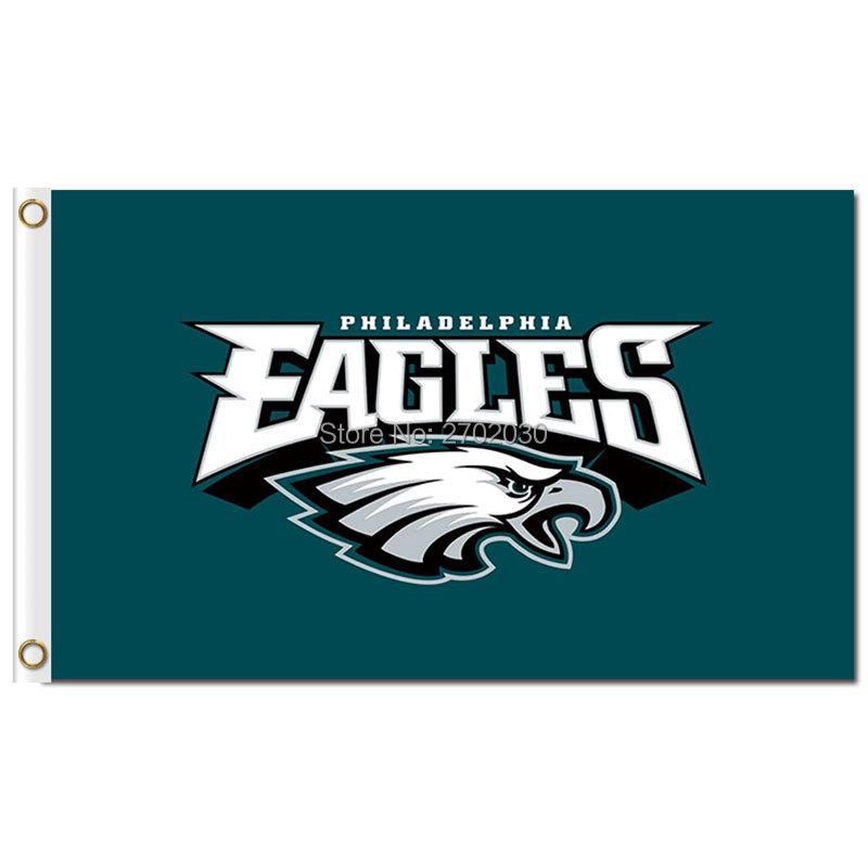 Philadelphia Eagles Bandera Flag 90x150 Cm World Series Football Team Jersey Philadelphia Eagles Banner Flag Colors Stand(China (Mainland))