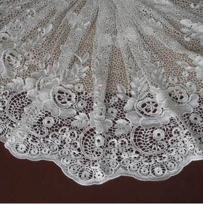 Free shipping High Quality 3D Water-soluble Crochet Cutout Lace Fabric high quality floral lace fabric RS879(China (Mainland))