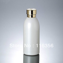 120ML  white glass bottle with golden lid, lotion bottle