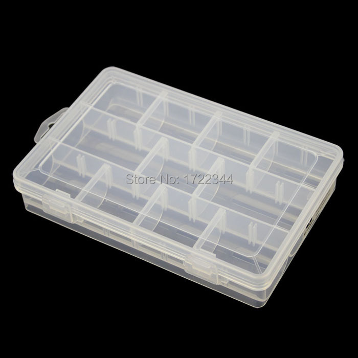 free shipping 11grid Thickened PP storage box Category Box Sealed bin Home case office medical Chip box part IC jewelry tool box(China (Mainland))