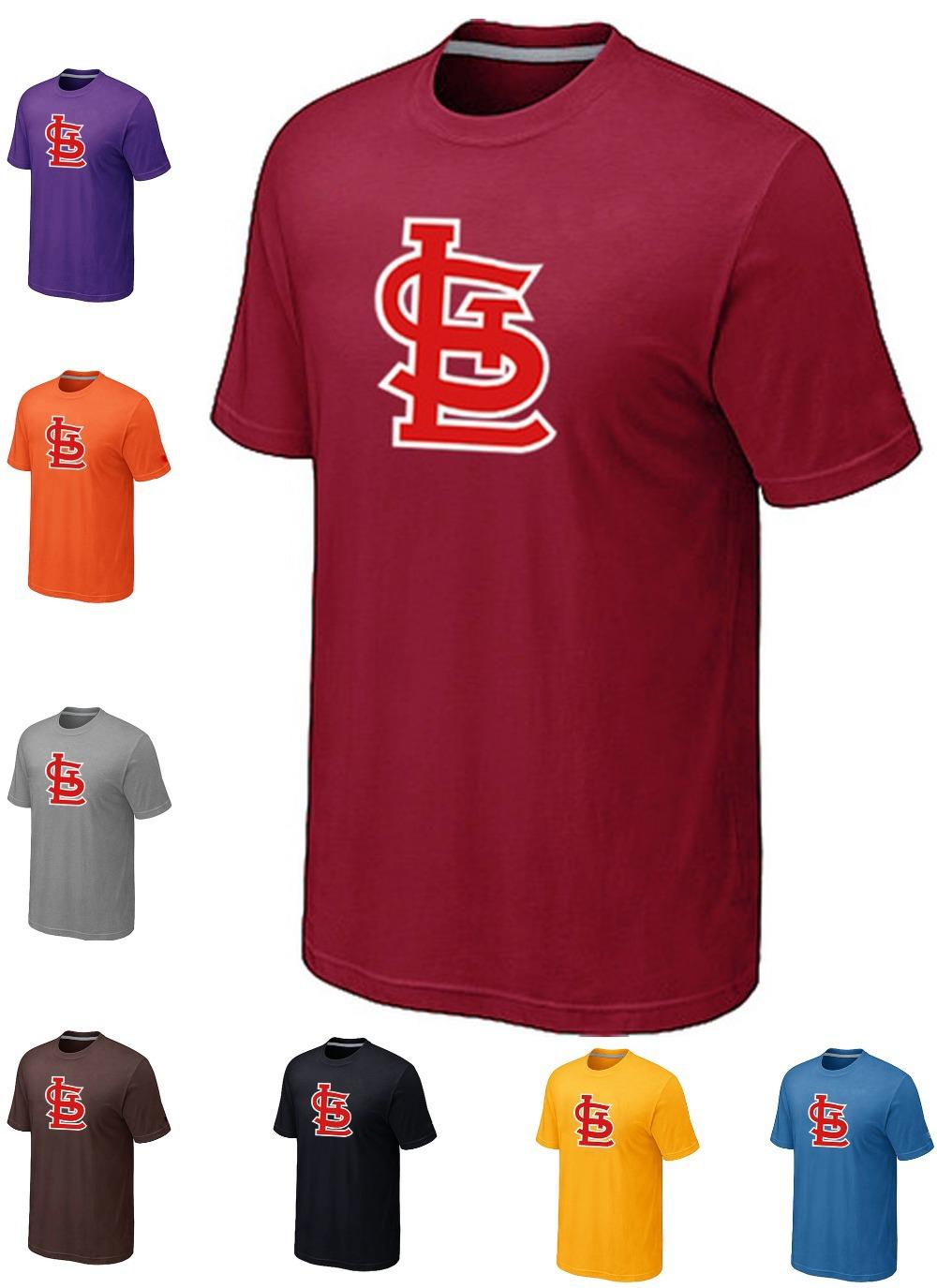 Cheap Cotton St.Louis CardinalsBaseball T Shirts Short Sleeve O-Neck Heathered Blended T-shirt Factory wholesale14 Colors(China (Mainland))