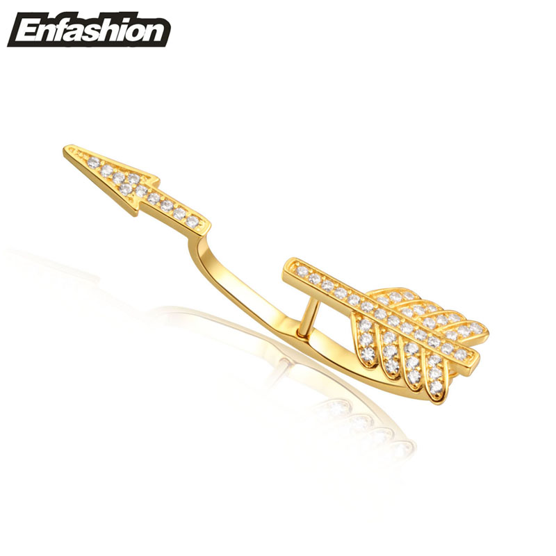 Fashion arrow earing cuff crystal ear clips 24K gold plated earrings clips ear cuff clip on earrings women jewelry wholesale(China (Mainland))