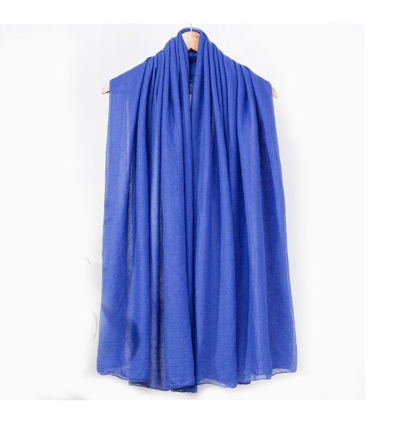 Autumn Winter Blue Lady Cotton Scarves Solid Color Pashmina Hijab Korean Brand Shawl Scarf Long Warm Wrap Muffler C093Одежда и ак�е��уары<br><br><br>Aliexpress