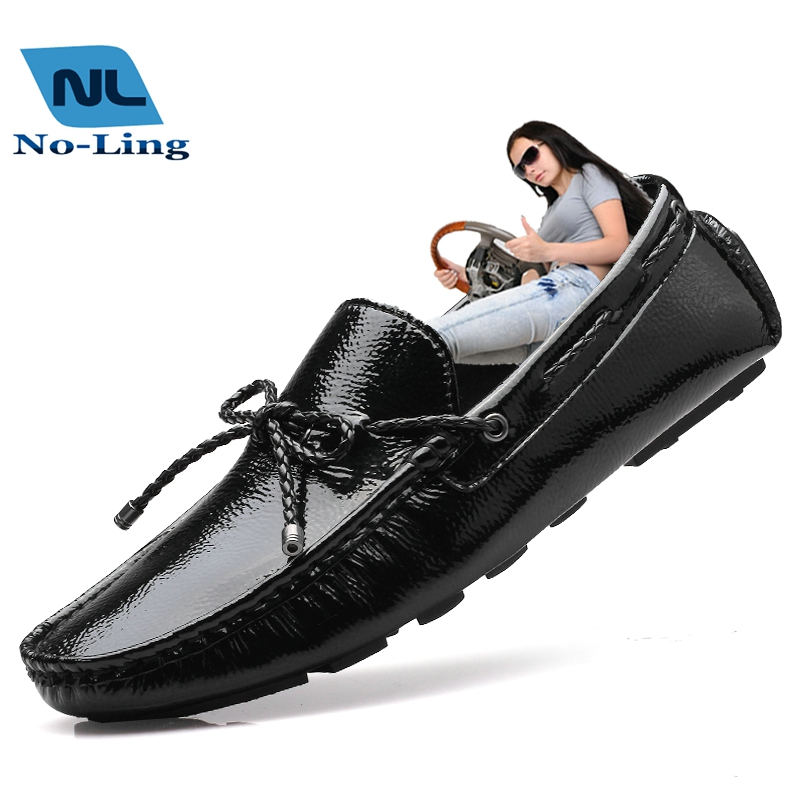 2016 new black doug shoes for mens black driving loafers