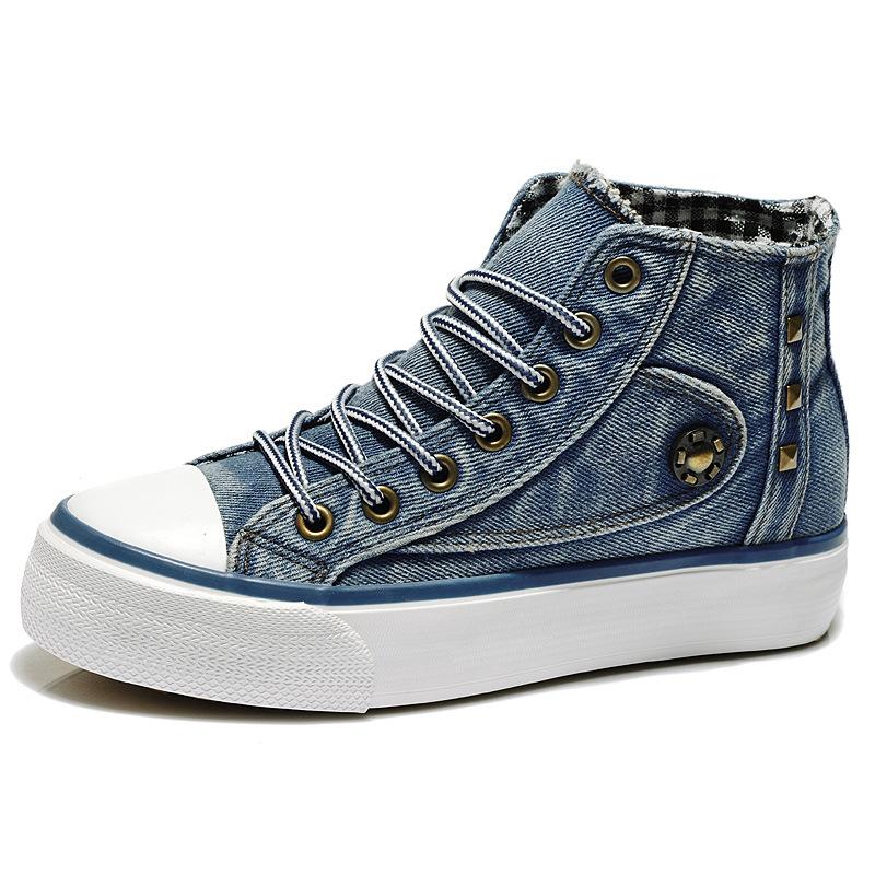 Flat Canvas Denim Shoes