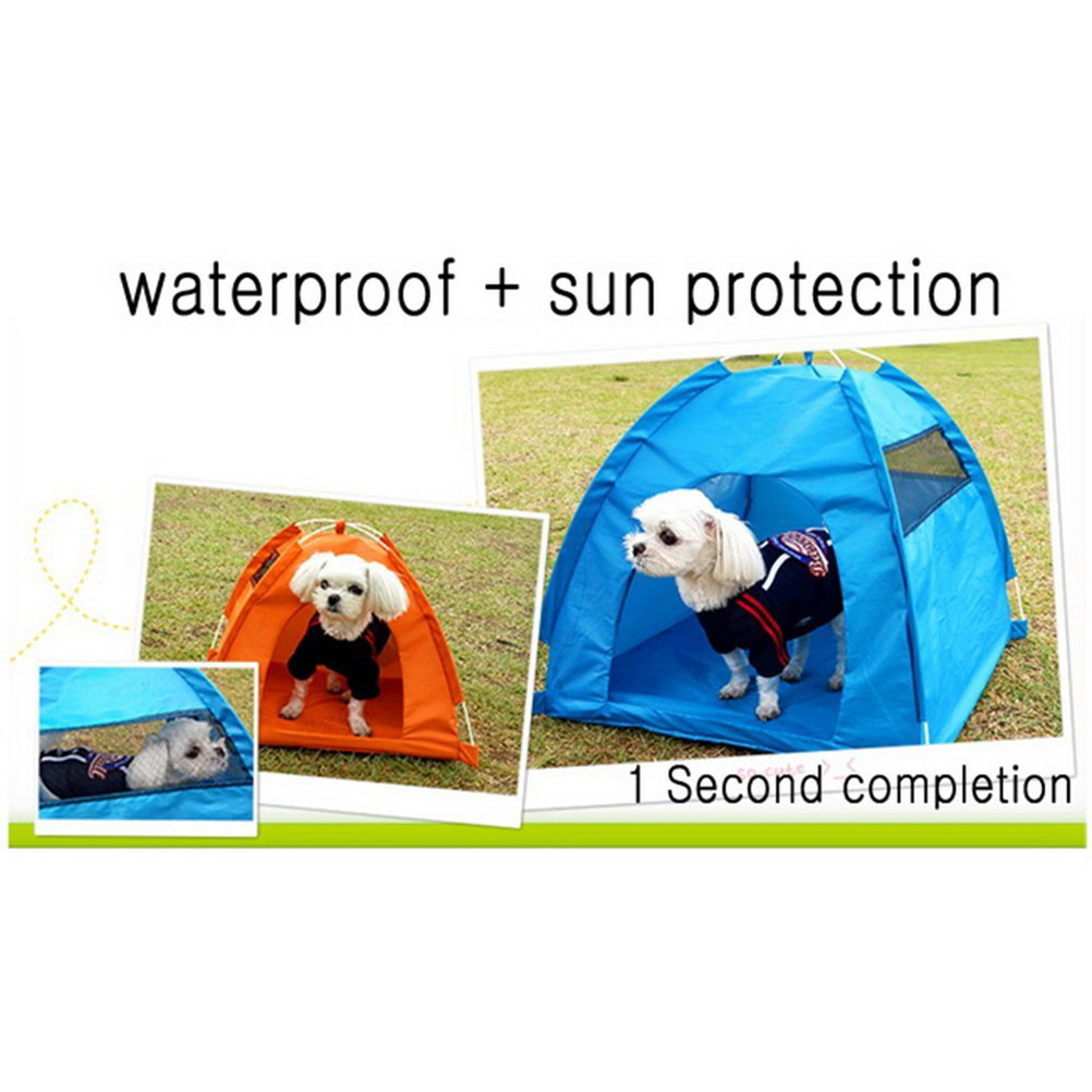 One-Touch Portable Folding Large Dog House Tent Waterproof Dog Tent Folding Portable Dog House Pet House Bed Kennel Cage Gift(China (Mainland))