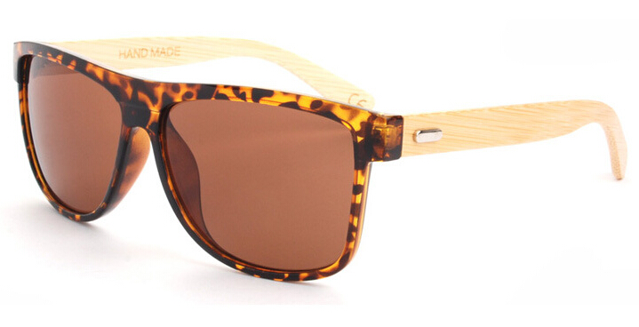 2016 Bamboo Sunglasses Men Mirrored Brand Wood Sun Glasses For Women Original Wooden Oculos De Sol(China (Mainland))