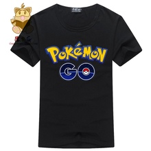 World's hot mobile game Pokemon Go logo priting cotton tee shirt men's t shirt pokemon go AC124 Pokemon trainer t shirt