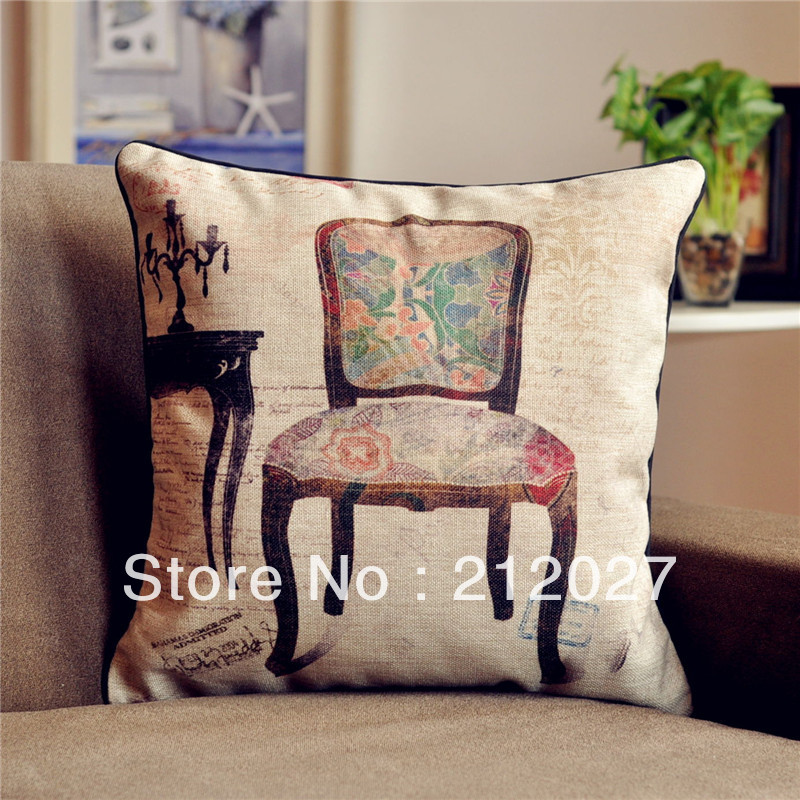 Free Shipping French Country Retro Vintage Chair Cushion Cotton Linen Decorat