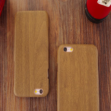 6 s Retro Vintage Wood Bamboo Pattern PU Cases For iphone 6 6S Luxury Slim Back Cover Mobile Phone Protector Accessories