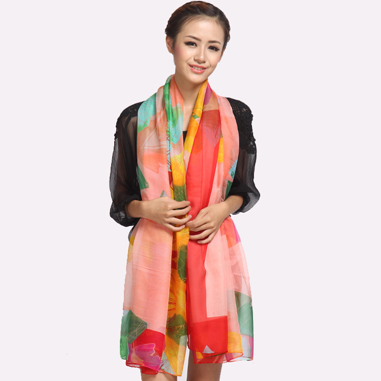 2016women wholesale cheap silk scarf fashion brand floral printsilk shawls scarves wraps cheap pink european scarf180*100cm(China (Mainland))