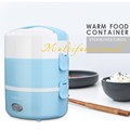 Mini rice cooker Electrical Heating bento box potable electric heating cooking lunch box cabinet keep wram