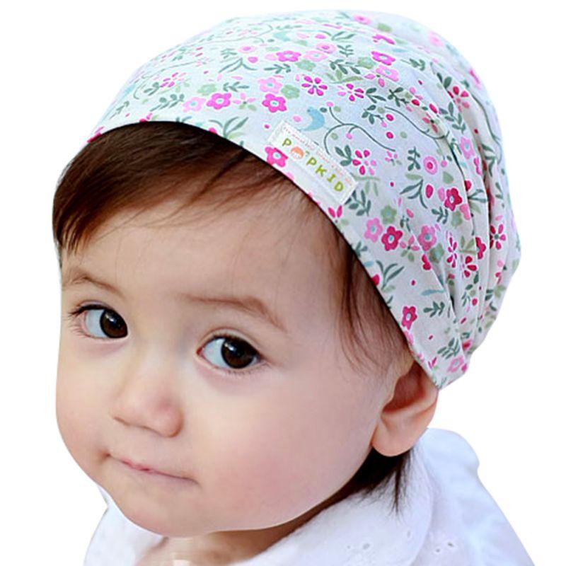 Retail Cute Baby Floral Printing Cotton Headband Children Girl Flower Bandanas Headscarf Band 1-3 Year Kids Girls Hot(China (Mainland))