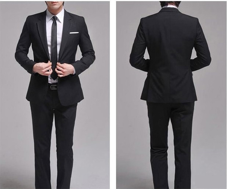 41-Free Shipping New 2015 man suit classic Fashion grooms man suits! Men's Blazer Business Slim Clothing Suit And Pants