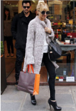 New Women Knitted Real Genuine Natural Rabbit Fur coat winter thick Warm Long Coat Free Shipping(China (Mainland))