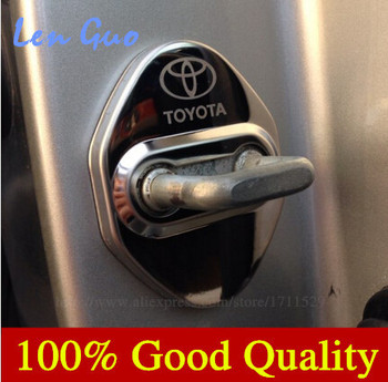 Door Lock Decoration Protection Stainless Steel Cover case for toyota corolla camry avensis rav4 yaris auris car styling